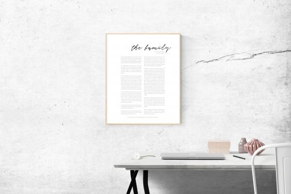 Family Proclamation Printable Script