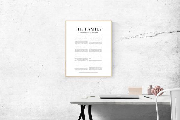 Family Proclamation Printable Serif