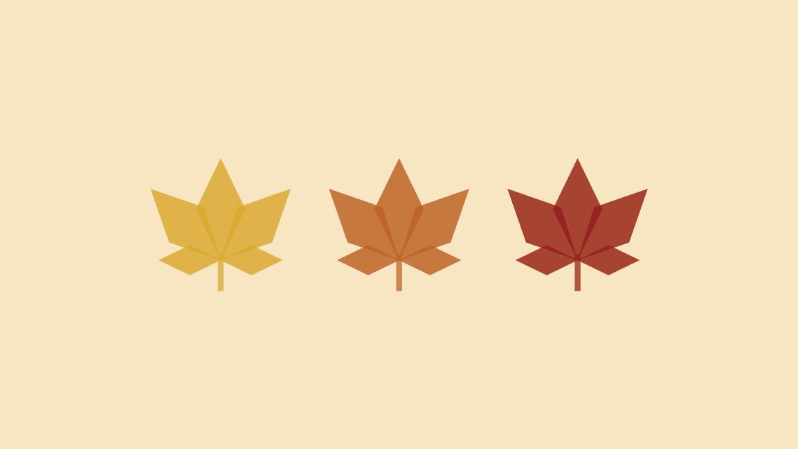 Fall Leaves Yellow Desktop Wallpaper