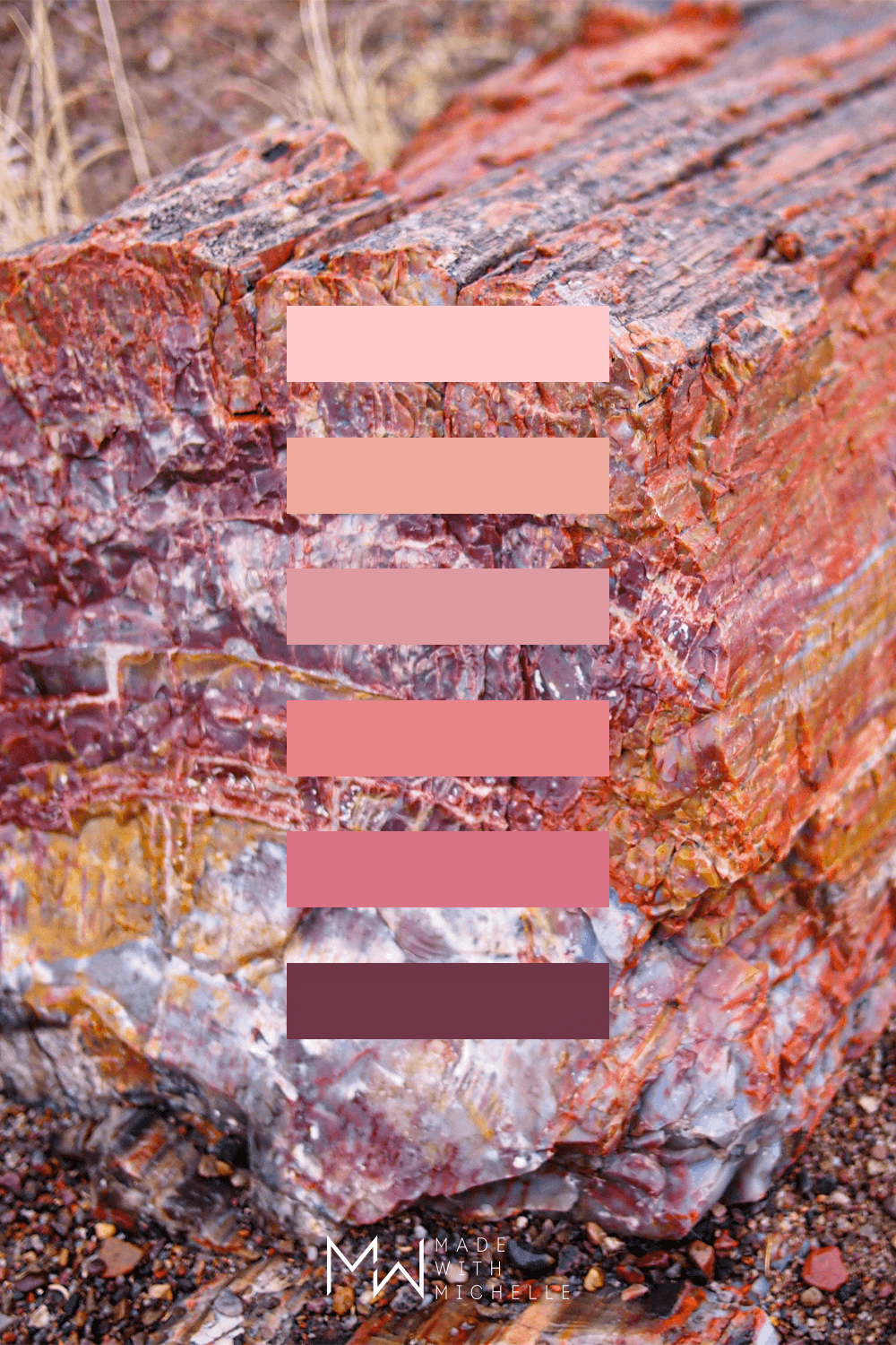 Pink Petrified Forest Color Palette 22