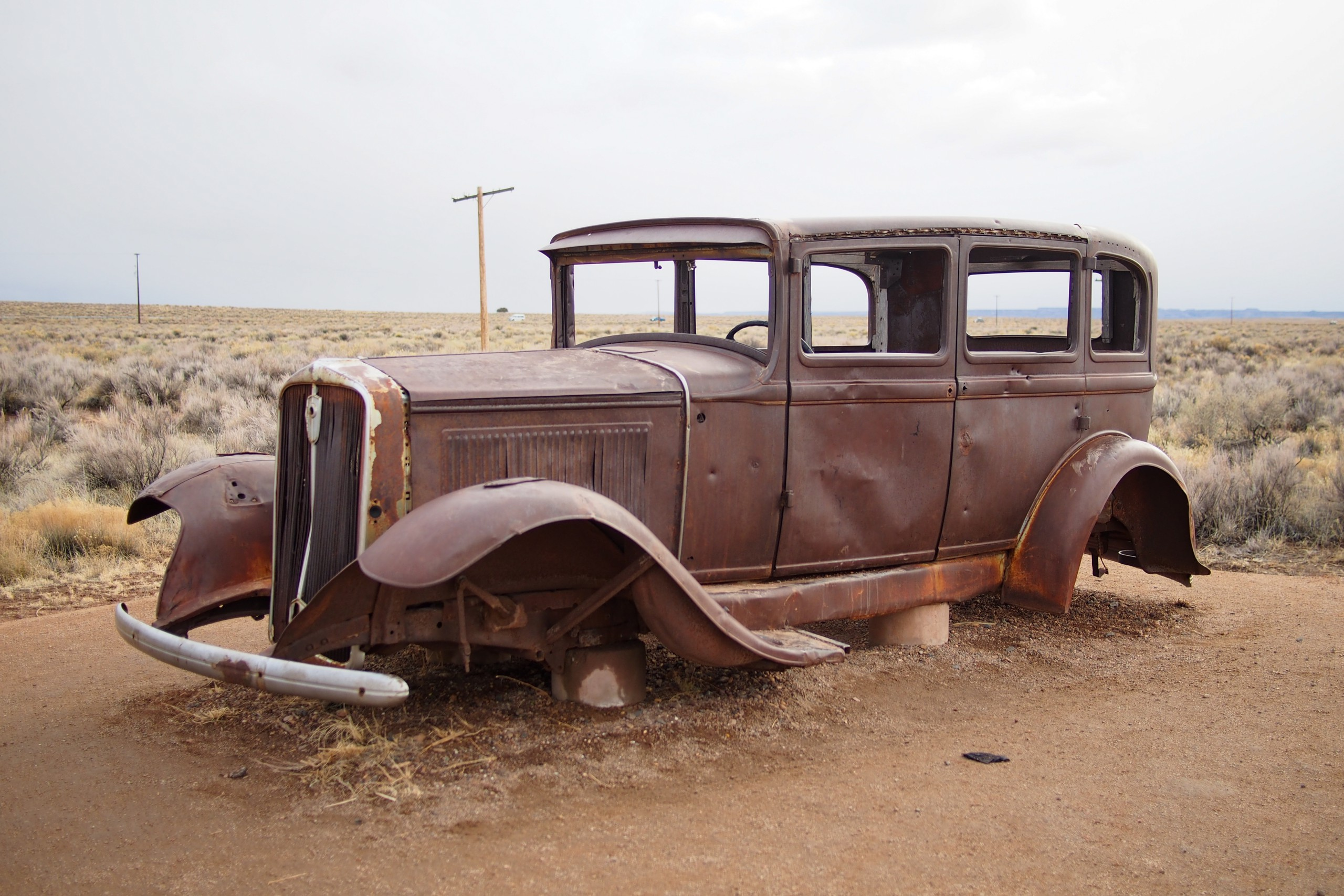Petrified Forest Route 66 Car
