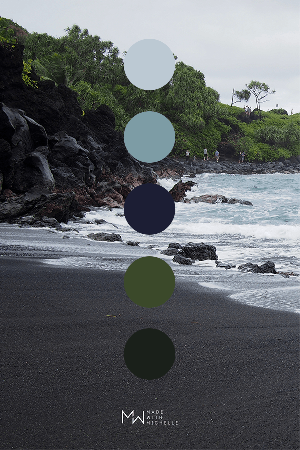 black sand color palette