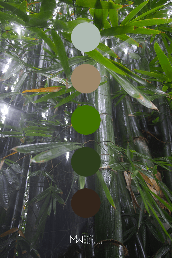 bamboo color palette