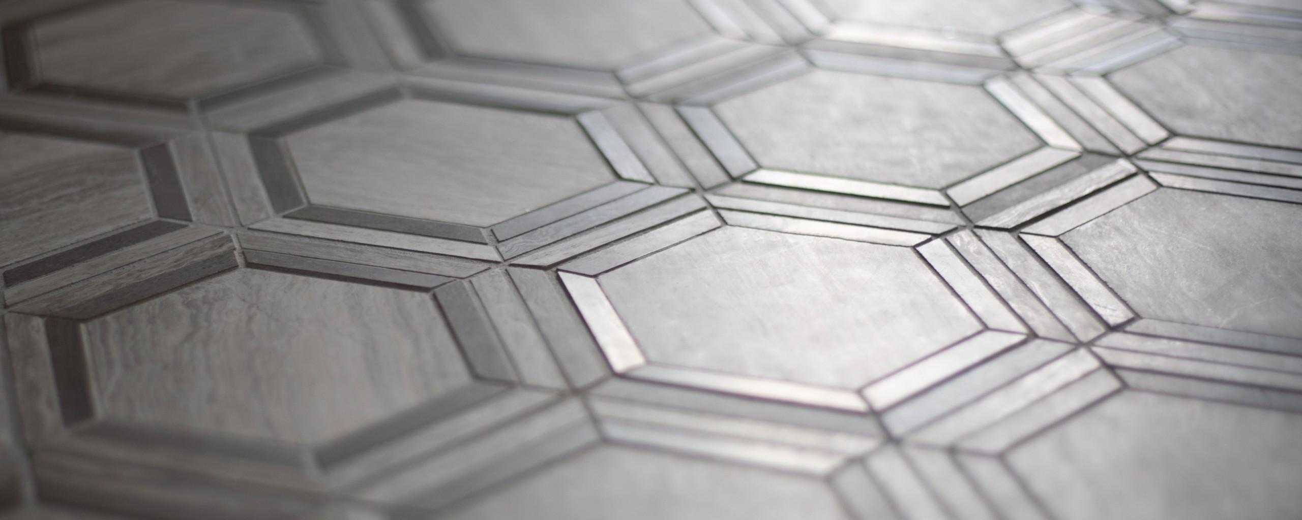 Dark Hexagon Tile